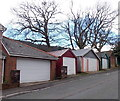 SS9596 : Lockup garages and bare trees, Conway Road, Cwmparc by Jaggery