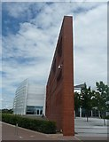 SU3715 : Ordnance Survey Head Office - Feature wall by Rob Farrow