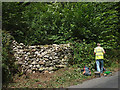 SD4976 : Repaired drystone wall, Storrs Lane by Karl and Ali