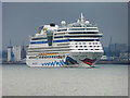 SU4208 : Cruise liner in Southampton Water by Oliver Dixon