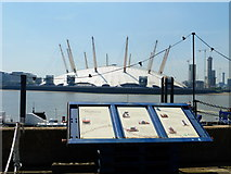 TQ3980 : O2 seen from East India Dock by Shazz