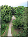 TQ4376 : Severndroog Castle: access track by Stephen Craven
