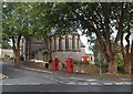 SX9064 : Two phoneboxes at the edge of All Saints Church, Torre, Torquay by Jaggery