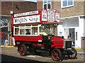TQ3276 : Vintage bus at Walworth bus garage by David Kemp