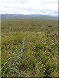 SH8141 : Fenceline above Cefn Côch by Richard Law