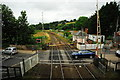 SX8399 : Level crossing and signalbox at Crediton by John Winder