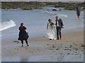 NU2424 : Wedding photography on the beach by Oliver Dixon