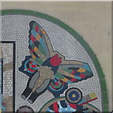 TQ2981 : The entrance to Tottenham Court Road tube station - Paolozzi mosaic (detail) by Mike Quinn