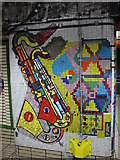 TQ2981 : Tottenham Court Road tube station - Paolozzi mosaic, Central Line (2) by Mike Quinn