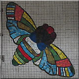 TQ2981 : Tottenham Court Road tube station - Paolozzi mosaic, Central Line (21) (detail) by Mike Quinn