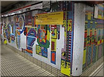 TQ2981 : Tottenham Court Road tube station - Paolozzi mosaic, Central Line (23) by Mike Quinn