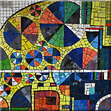 TQ2981 : Tottenham Court Road tube station - Paolozzi mosaic, Central Line (24) (detail) by Mike Quinn