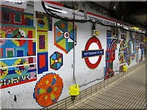 TQ2981 : Tottenham Court Road tube station - Paolozzi mosaic, Central Line (27) by Mike Quinn