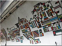 TQ2981 : Tottenham Court Road tube station - Paolozzi mosaic, Northern Line (3) by Mike Quinn