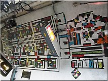 TQ2981 : Tottenham Court Road tube station - Paolozzi mosaic, Northern Line (5) by Mike Quinn
