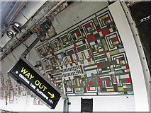TQ2981 : Tottenham Court Road tube station - Paolozzi mosaic, Northern Line (7) by Mike Quinn