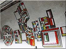 TQ2981 : Tottenham Court Road tube station - Paolozzi mosaic, Northern Line (10) by Mike Quinn