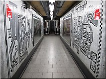 TQ2981 : Tottenham Court Road tube station - Paolozzi mosaic, Northern Line (16) by Mike Quinn