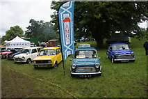 NO3847 : Minis at the Scottish Transport Extravaganza at Glamis Castle by Mike Pennington