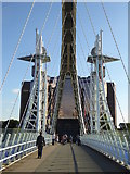 SJ8097 : The footbridge leading from Salford Quays to Trafford Wharf by Rod Allday