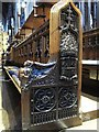 NZ2464 : The Cathedral Church of St. Nicholas - choir stall by Mike Quinn