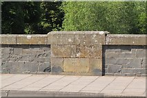 NT2540 : Carved benchmark on Tweed Bridge, Peebles by Jim Barton