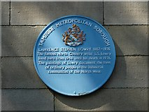 SJ9995 : Lowry's Blue Plaque by Neil Theasby
