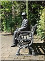 SJ9995 : Lowry statue and bench in Mottram by Neil Theasby