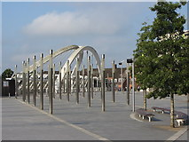 TQ1985 : Public space near Wembley Stadium station by Gareth James