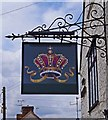 SU4596 : The Crown (3) - sign, 1 Packhorse Lane, Marcham, Oxon by P L Chadwick
