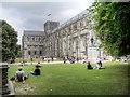 SU4829 : Winchester Cathedral, North Façade by David Dixon