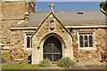 TF1681 : St.Mary's church porch by Richard Croft