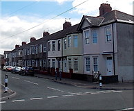 ST3186 : Houses on the south side of Wingate Street, Newport by Jaggery