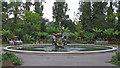 TQ2882 : Ornamental Pond and Triton Fountain, Regent's Park by Free Man