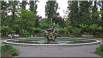 TQ2882 : Ornamental Pond and Triton Fountain, Regent's Park by Free Man
