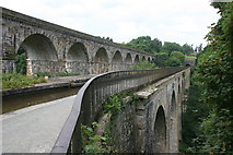 SJ2837 : Chirk aqueduct and viaduct by Graham Hogg