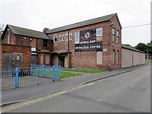 SJ3291 : Seacombe former Drill Hall/Guinea Gap Recreation Centre by John S Turner