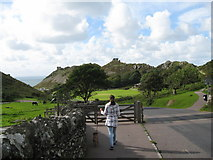 SS7049 : Road to the Valley of Rocks-Lynton, North Devon by Martin Richard Phelan