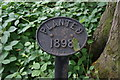 SE4018 : A date plaque in a unnamed wood near Nostell Priory by Ian S