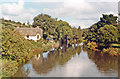SS9307 : Upstream on River Exe at Bickleigh Mill, 1984 by Ben Brooksbank