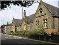 SD9126 : Cornholme - former Vale Board School - from SE by Dave Bevis