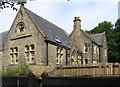 SD9126 : Cornholme - former Vale Board School - east end by Dave Bevis