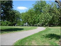 TQ2284 : A path in Roundwood Park by Marathon