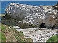 TA2372 : Sea cave in chalk cliff by Pauline E