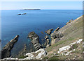 SM7508 : The Bench and Skokholm by Hugh Venables