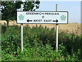 TA3222 : Greenwich Meridian Sign by Keith Evans