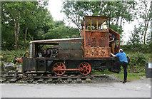 SK2855 : National Stone Centre - locomotive by Chris Allen