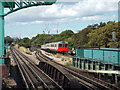 TQ2178 : District Line approaching Turnham Green by Malc McDonald