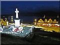 NG2547 : Dunvegan war memorial - floodlit by Richard Dorrell