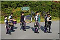 NG2547 : Isle of Skye Pipe Band by Tiger